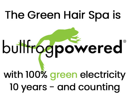 The Green Hair Spa is Bullfrog powered for 10 years